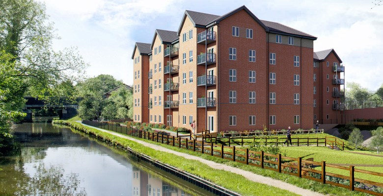Artist's impression of retirement apartments in Romiley