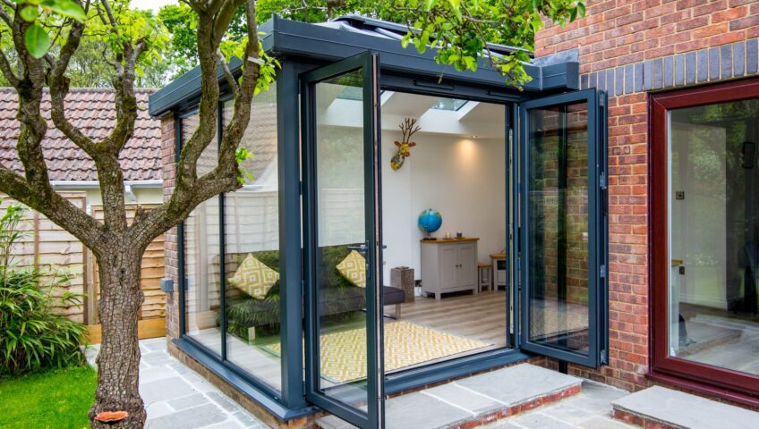 home improvements with bifold doors and conservatory extension